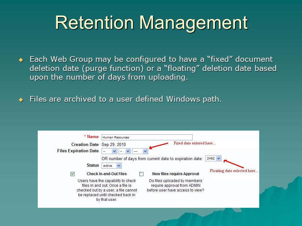 Retention Management