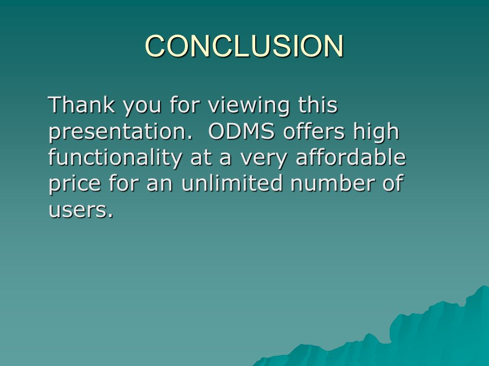 CONCLUSION Thank you for viewing this presentation.