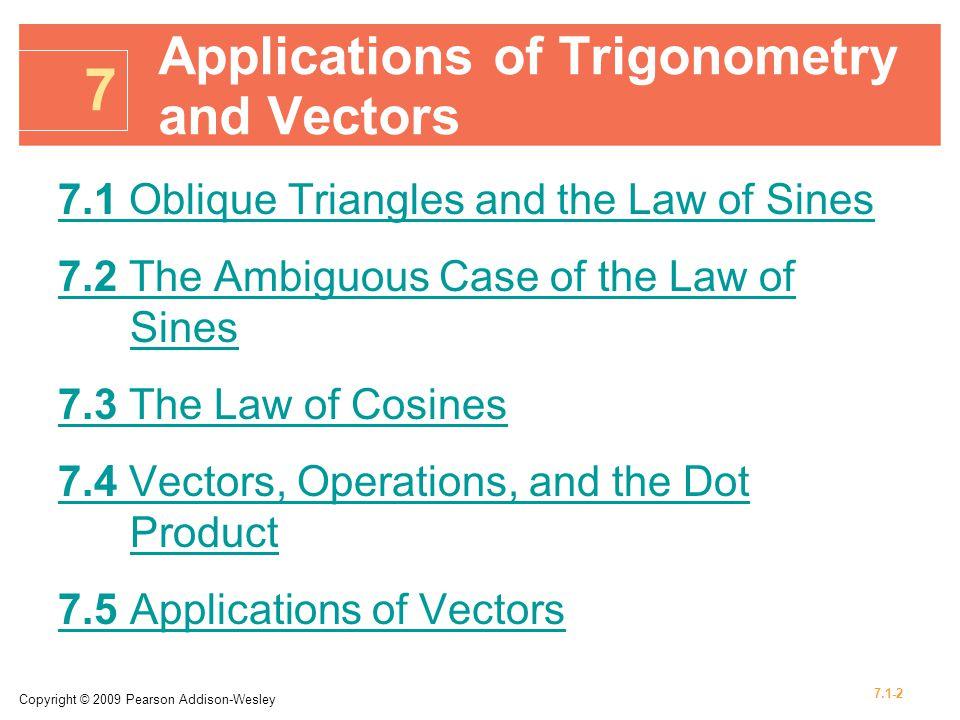 7 Applications of Trigonometry and Vectors - ppt download