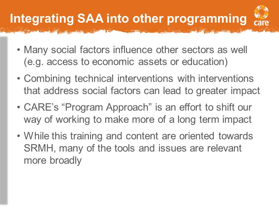 Integrating SAA into other programming