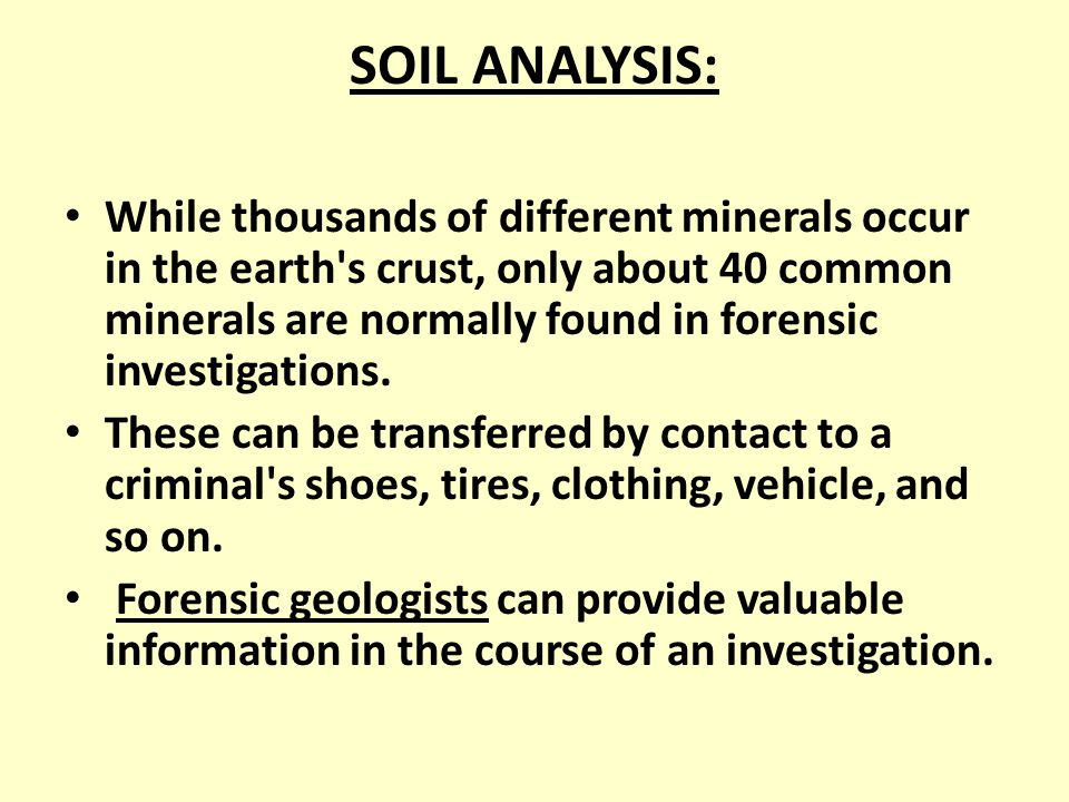 Unit 4 Forensic Geology Ppt Download