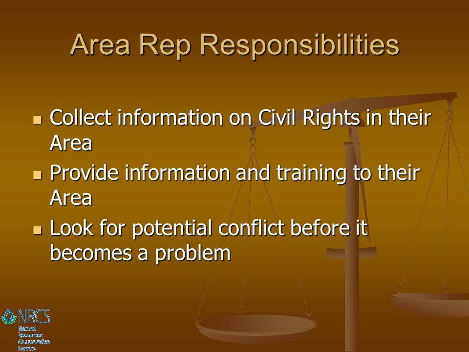 Area Rep Responsibilities