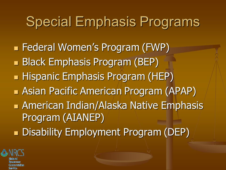 Special Emphasis Programs