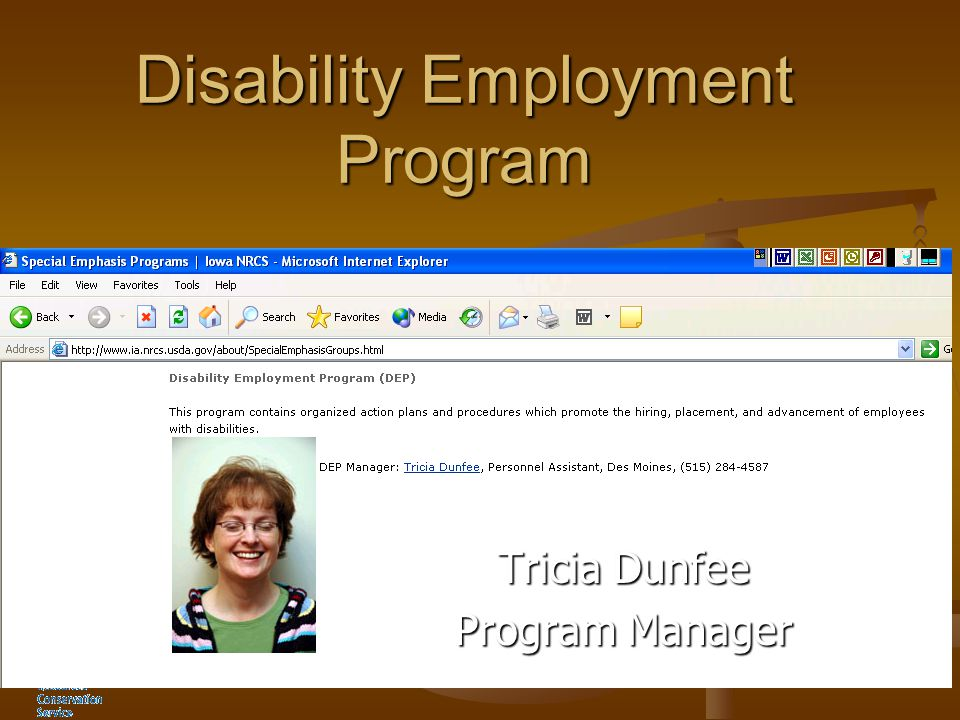 Disability Employment Program