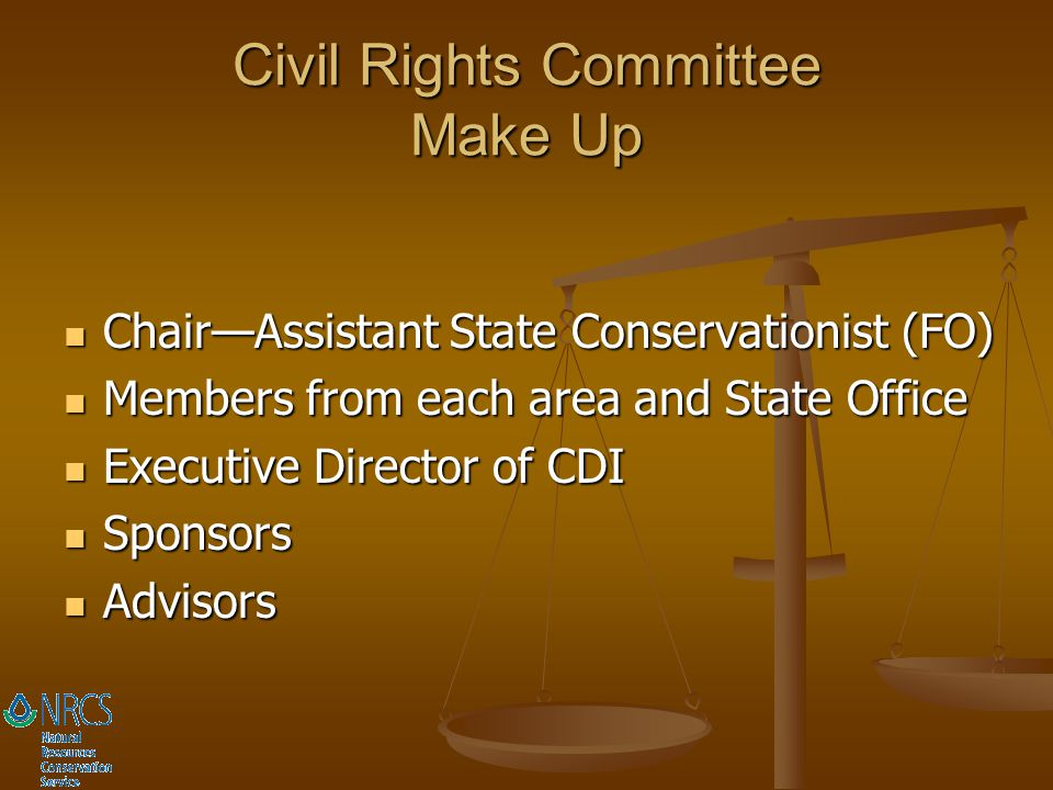 Civil Rights Committee Make Up