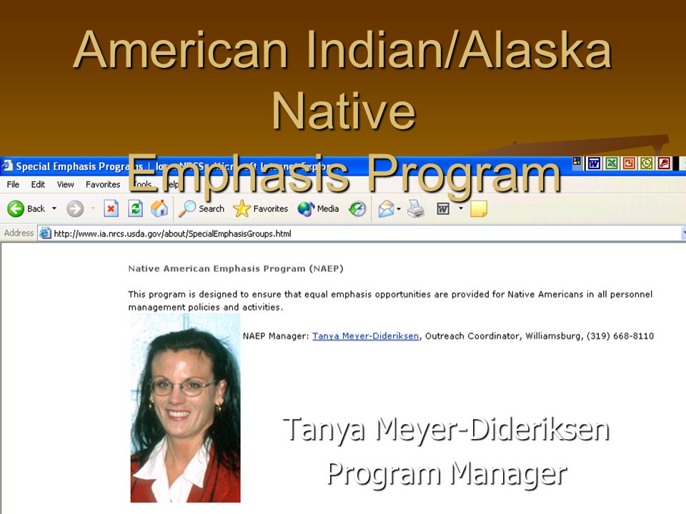 American Indian/Alaska Native Emphasis Program