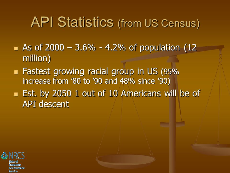 API Statistics (from US Census)