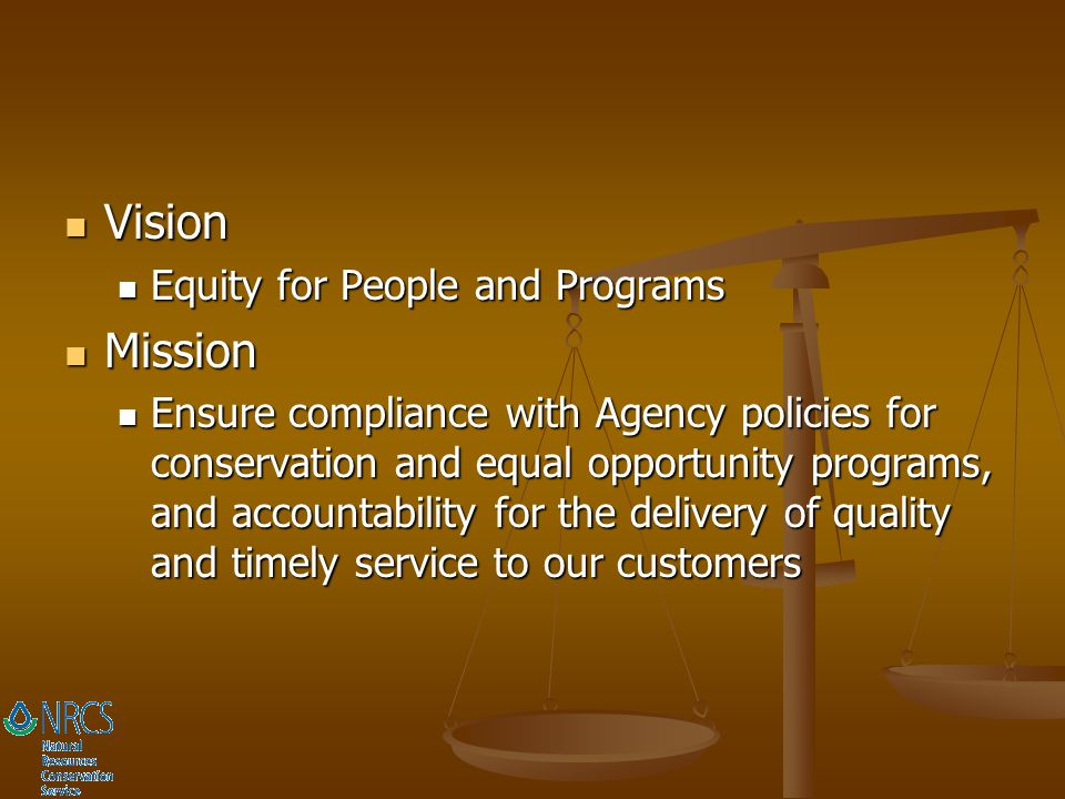 Vision Mission Equity for People and Programs