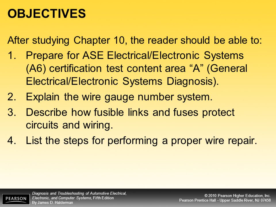 objectives after studying chapter 10, the reader should be able to  ase test preparation wires connectors wiring diagrams #49