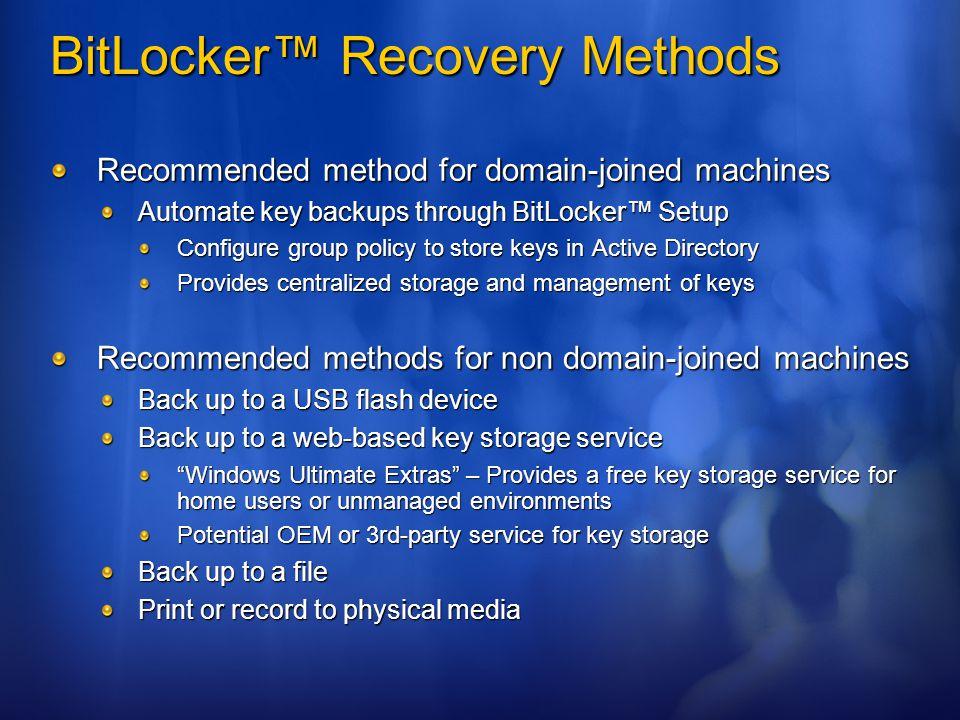 SEC325 BitLocker™ Drive Encryption Deployment - ppt video