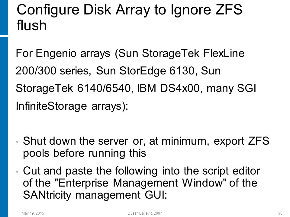 Zettabyte File System (File System Married to Volume Manager
