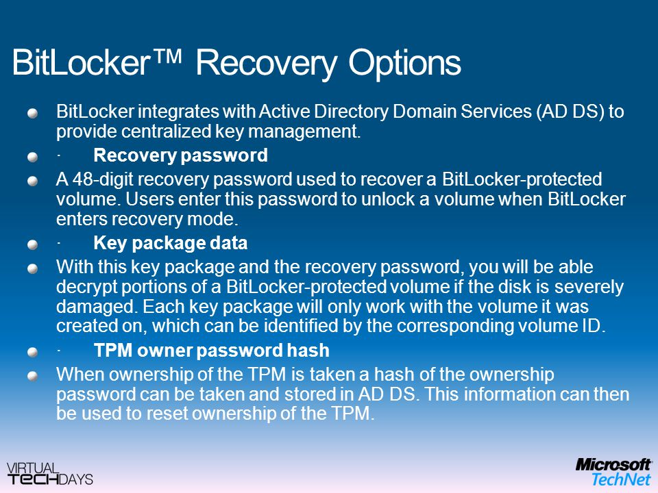 BitLocker: deep details, improvements and benifits - ppt