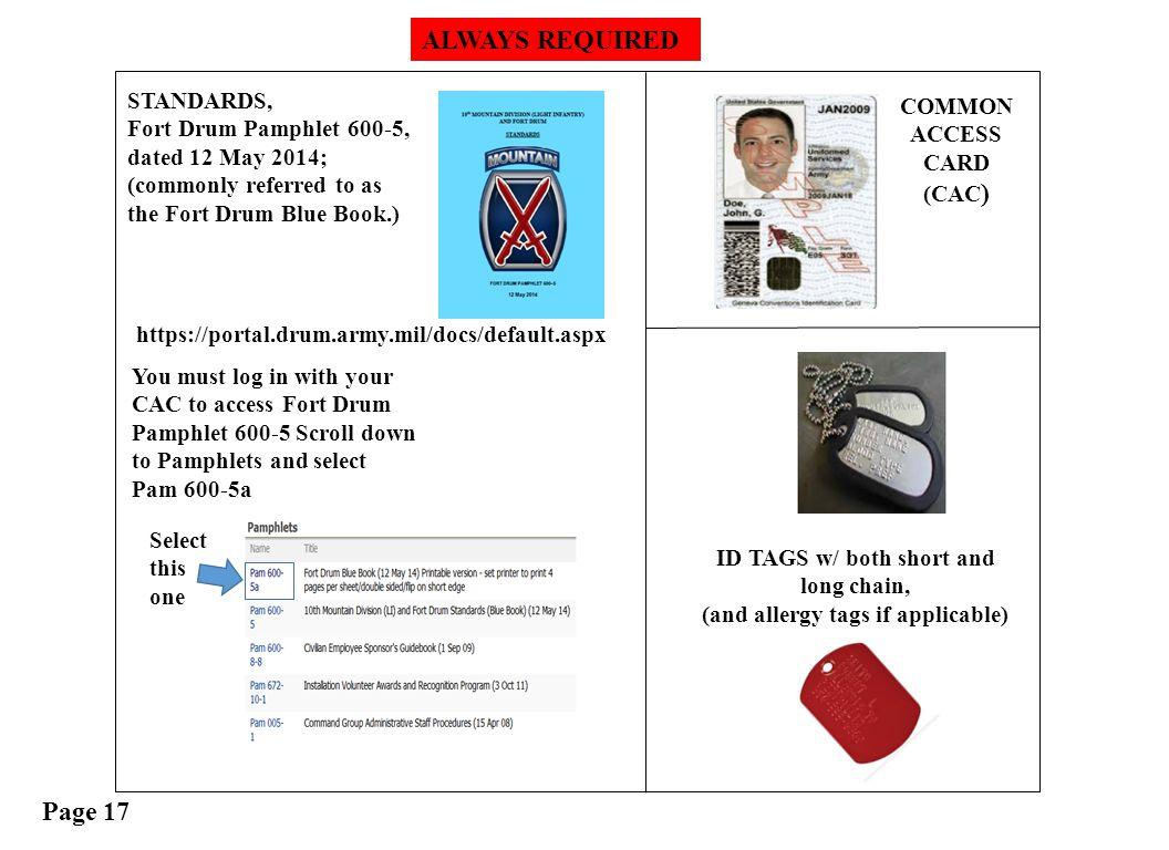 FORT DRUM WARRIOR LEADER COURSE - ppt download