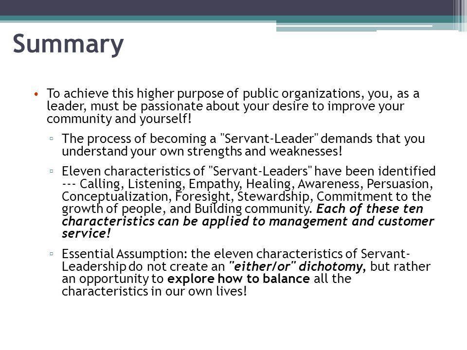 Servant Leadership: Weaknesses