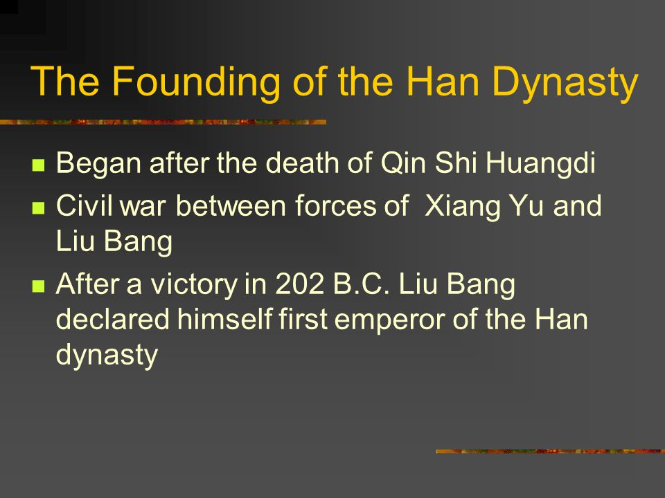 The Founding of the Han Dynasty