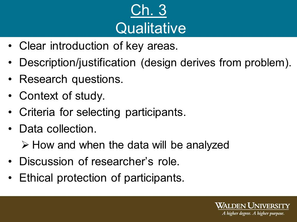 justification for qualitative research