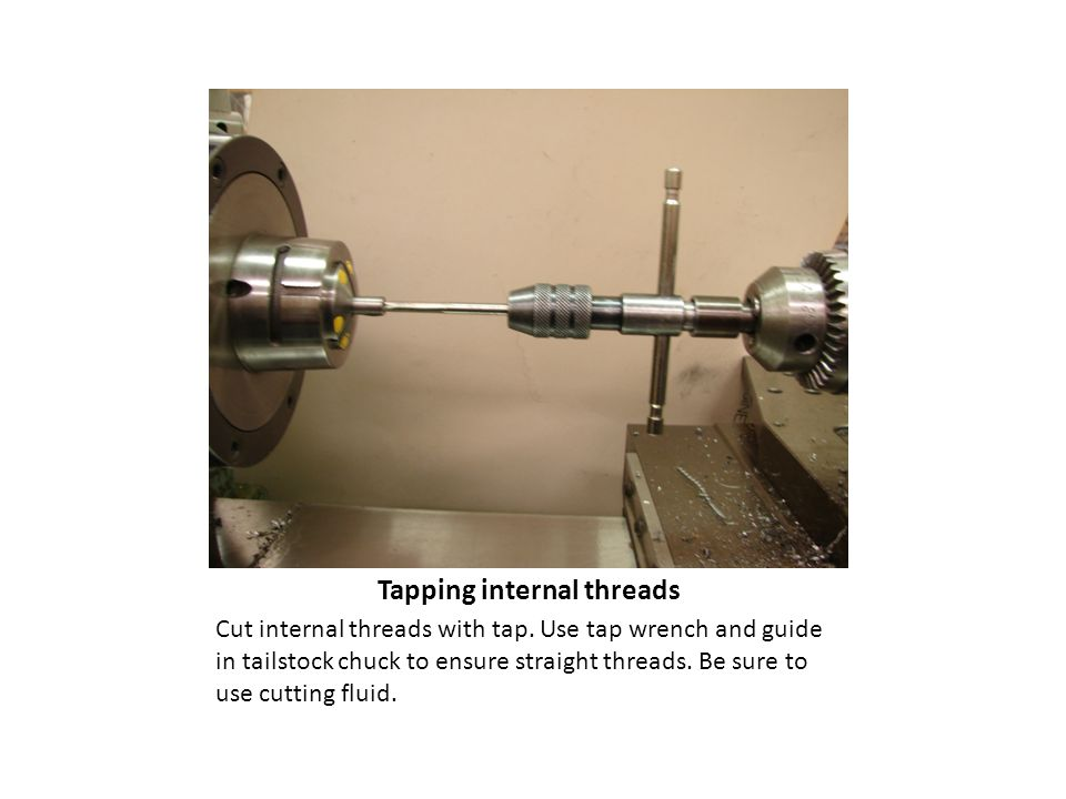 Tapping internal threads