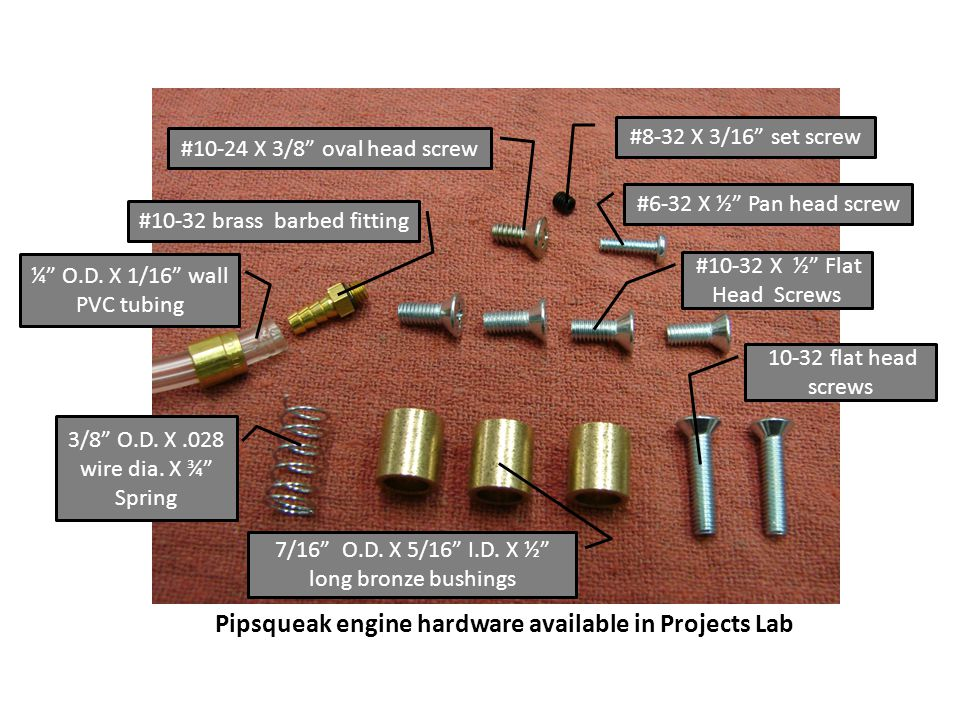Pipsqueak engine hardware available in Projects Lab
