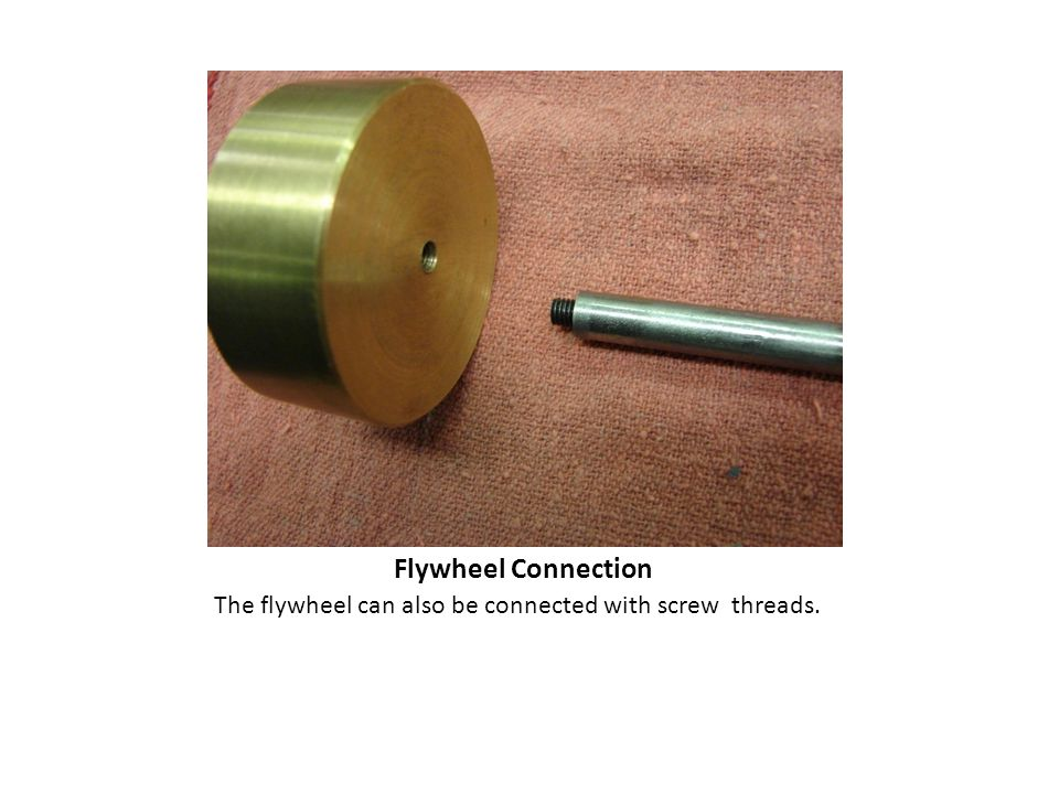 Flywheel Connection The flywheel can also be connected with screw threads.