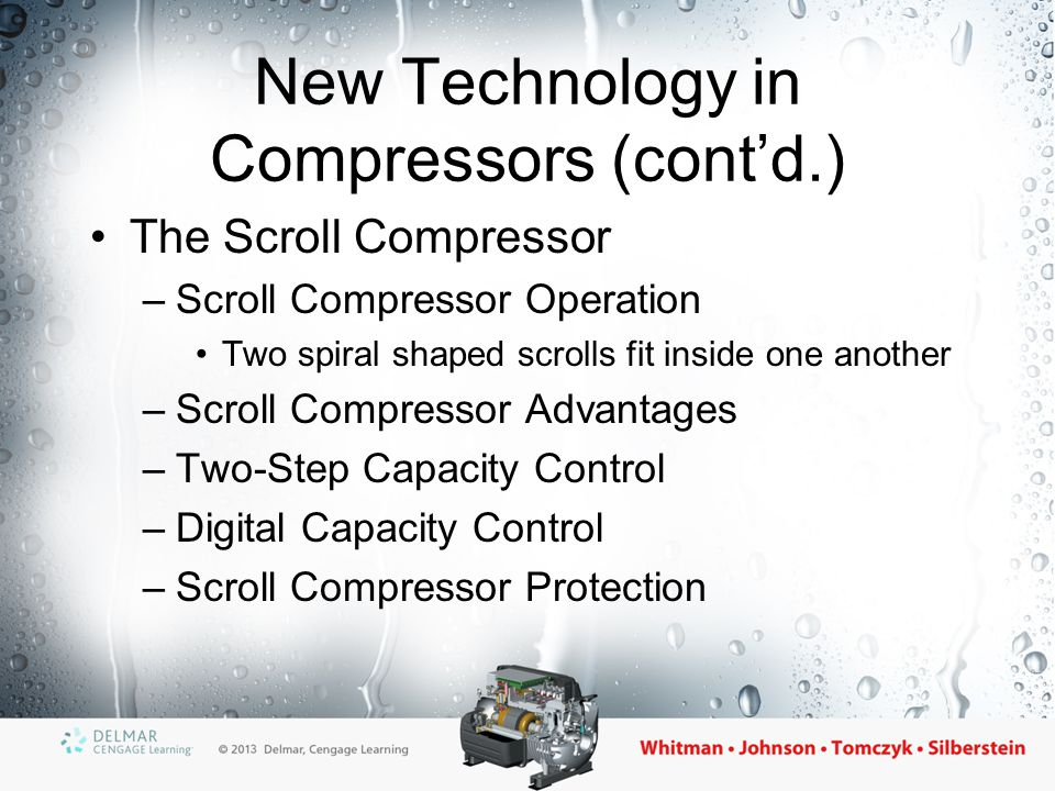 New Technology in Compressors (cont'd.)