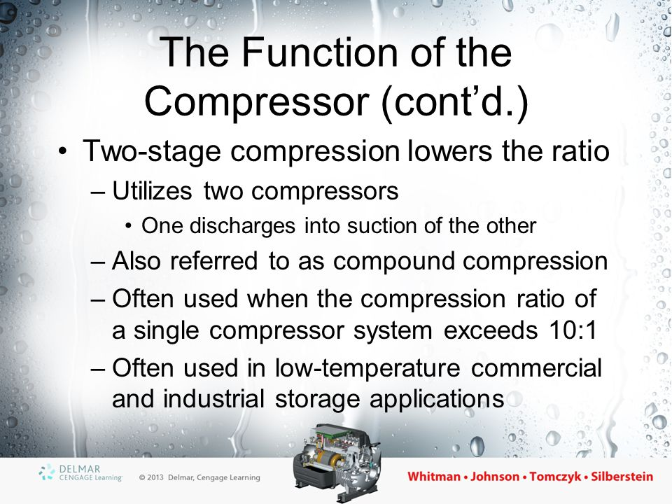 The Function of the Compressor (cont'd.)