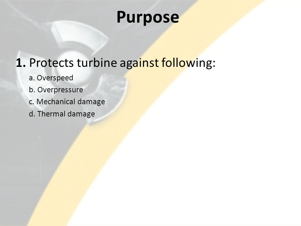 Turbine Protection and Control System - ppt video online download