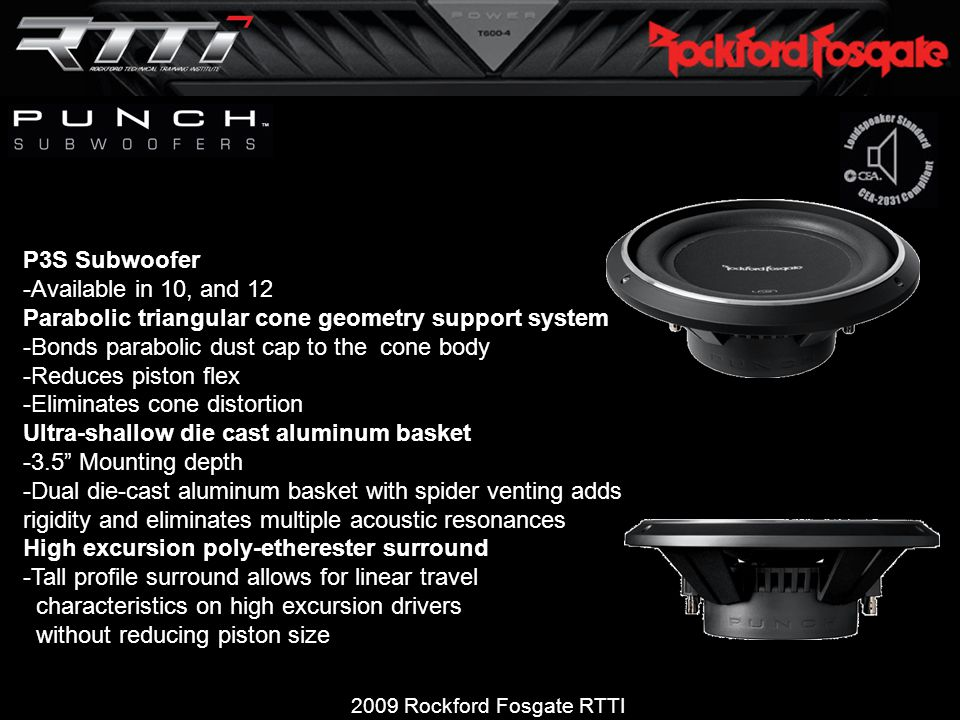 2009 Rockford Fosgate RTTI Product and Technical Training