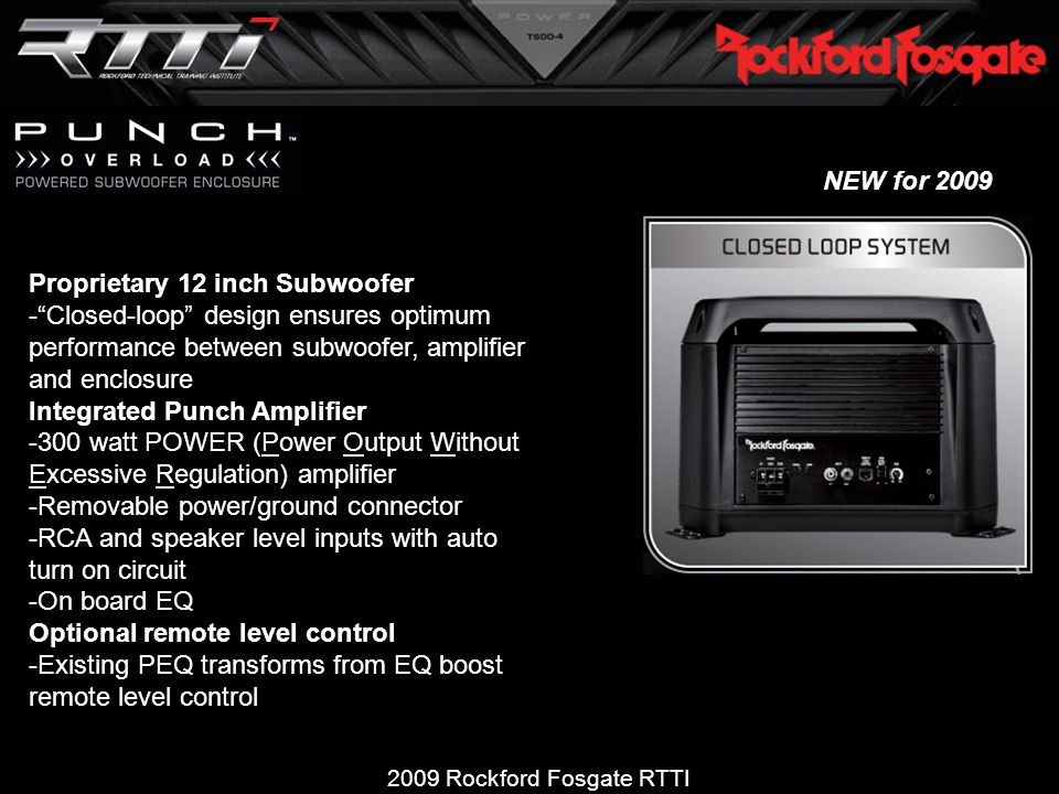 2009 Rockford Fosgate RTTI Product and Technical Training  - ppt