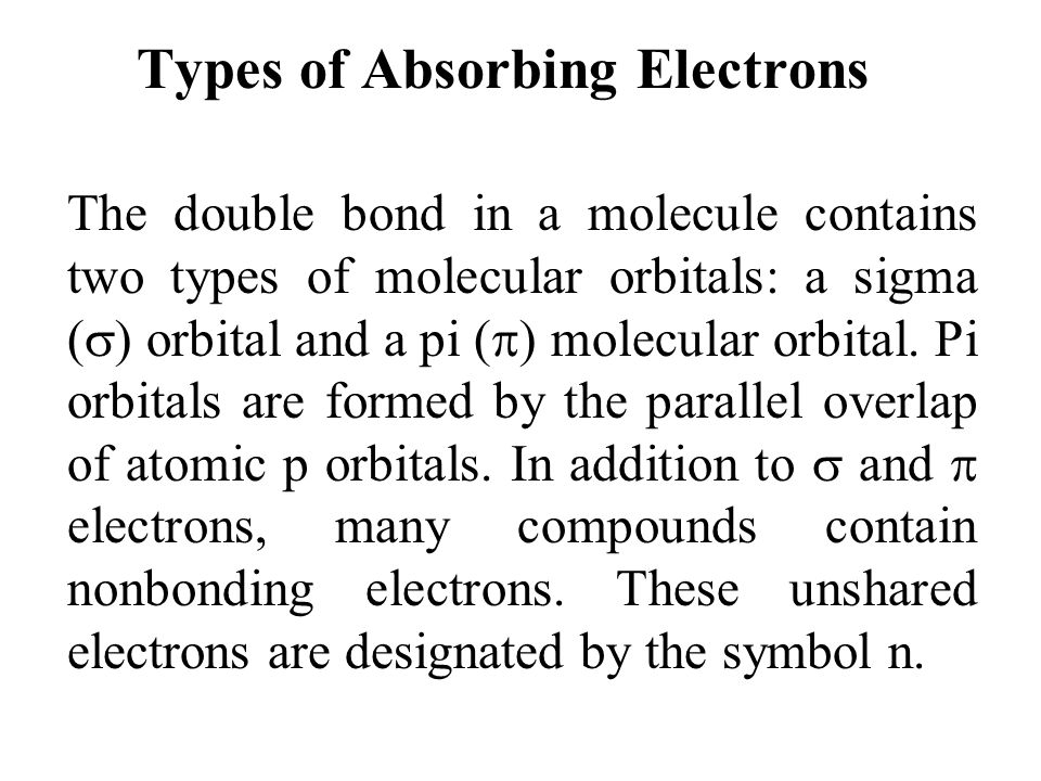 Types of Absorbing Electrons