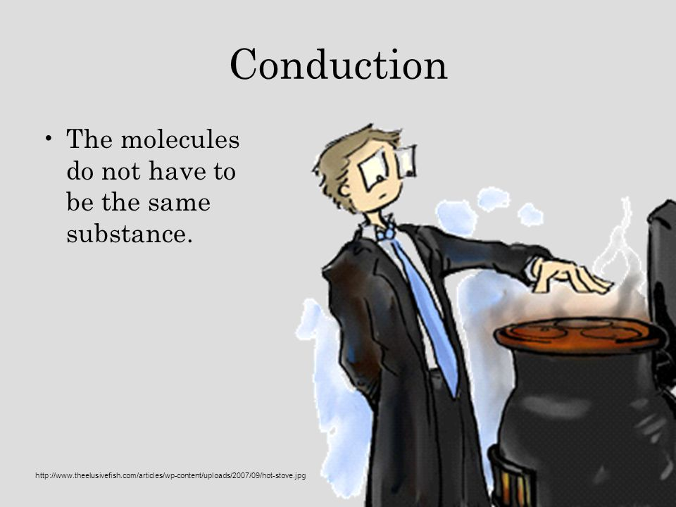 Conduction The molecules do not have to be the same substance.