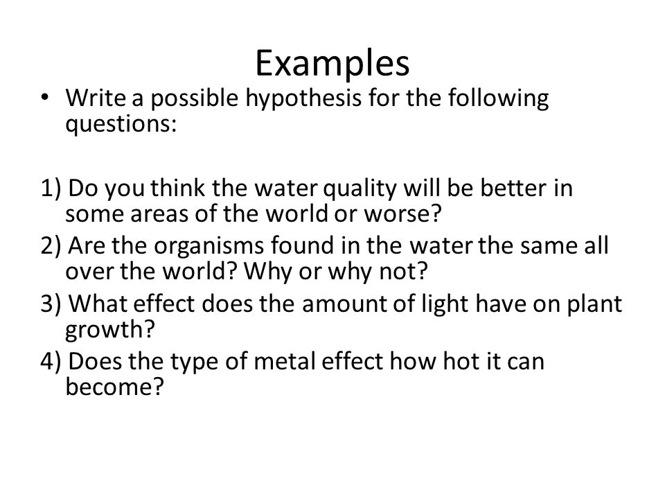Writing A Hypothesis Ppt Video Online Download