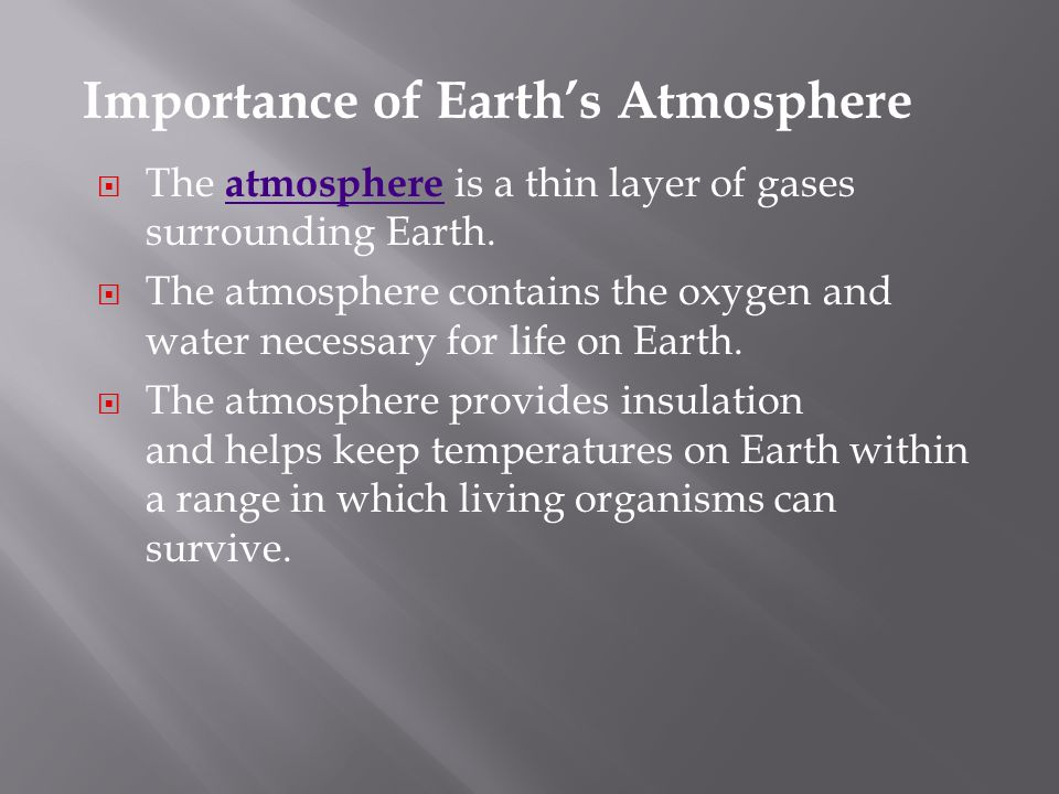 Importance of Earth's Atmosphere