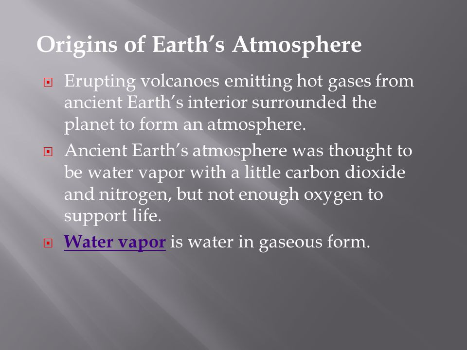 Origins of Earth's Atmosphere