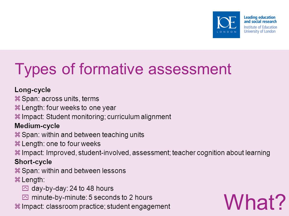 assessment for learning: why, what, and how? - ppt download