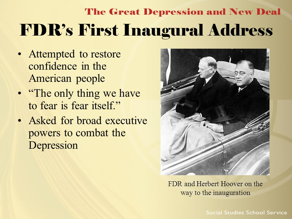 fdr first inaugural address