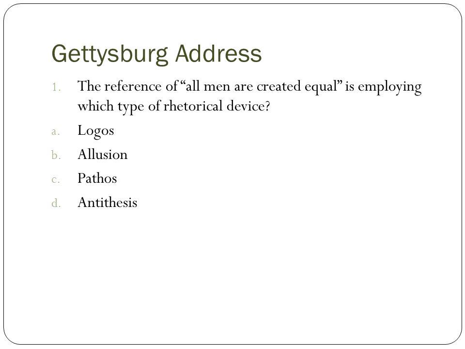 the gettysburg address rhetorical analysis