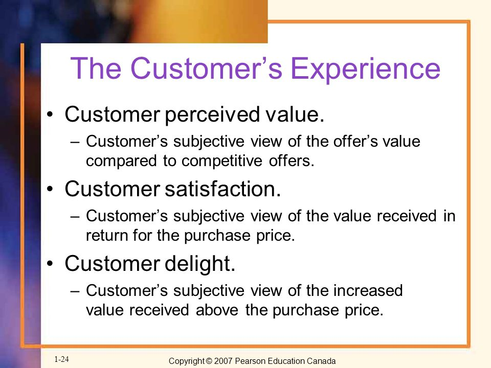 The Customer's Experience