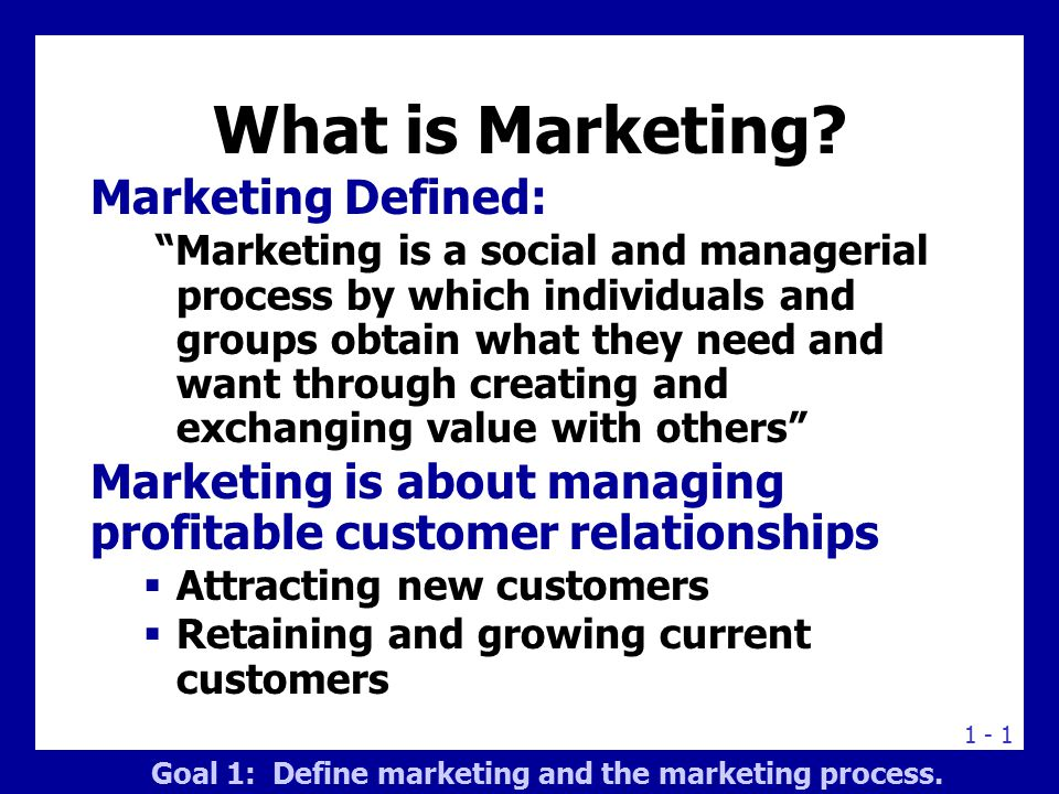 The Marketing Process A Five-Step Process