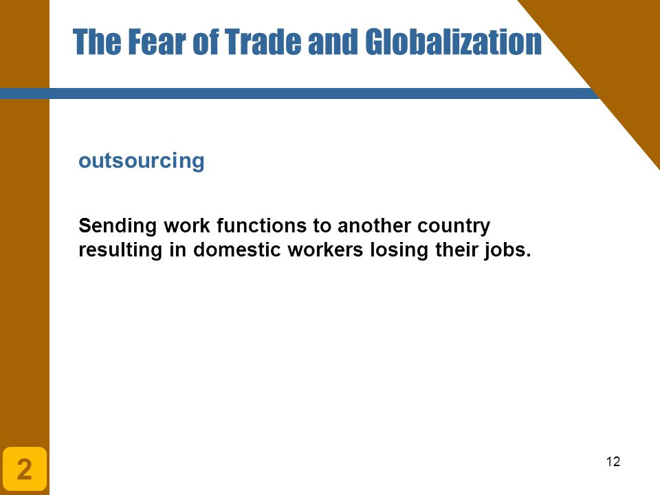 The Fear of Trade and Globalization