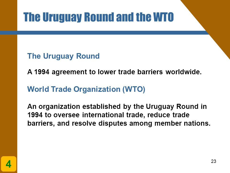 The Uruguay Round and the WTO