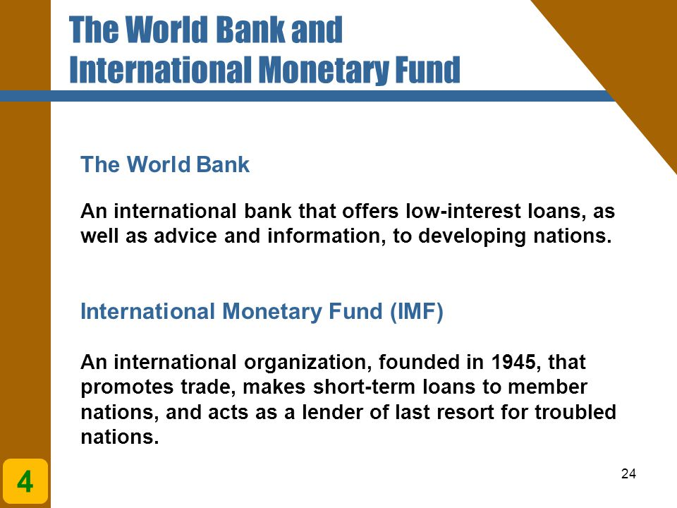 The World Bank and International Monetary Fund