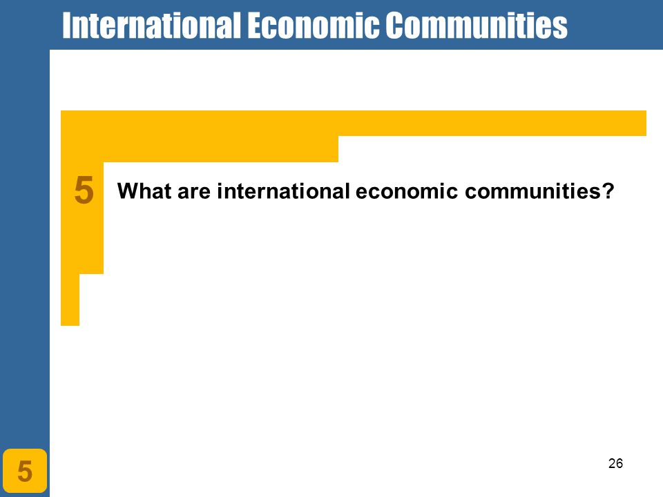 International Economic Communities