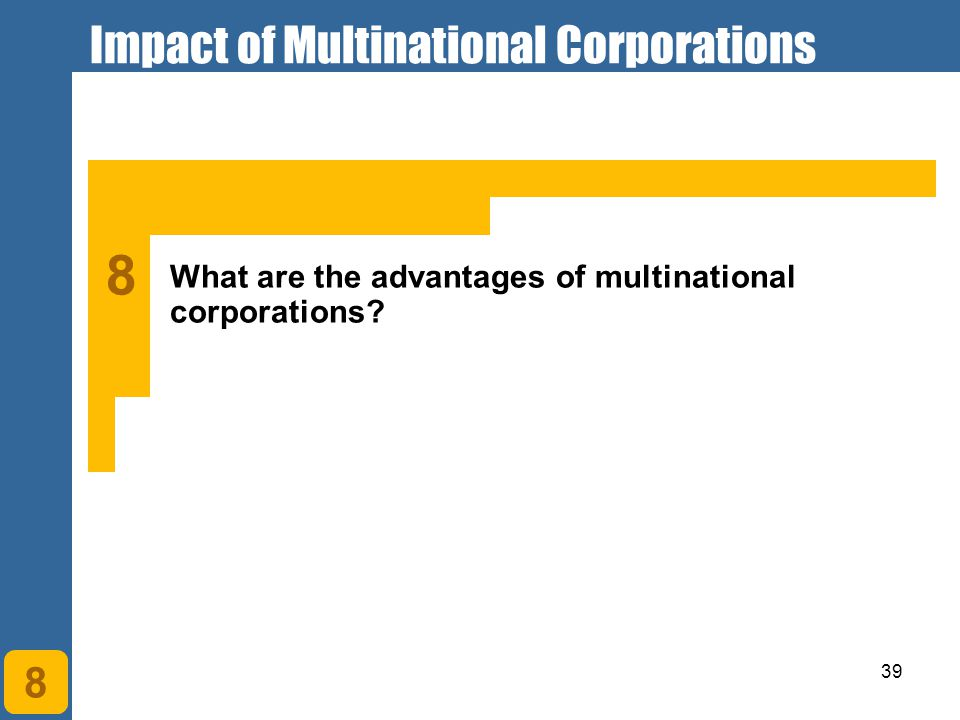 Impact of Multinational Corporations