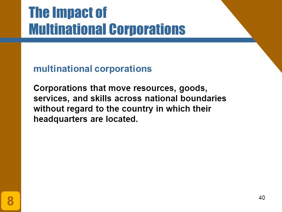 The Impact of Multinational Corporations