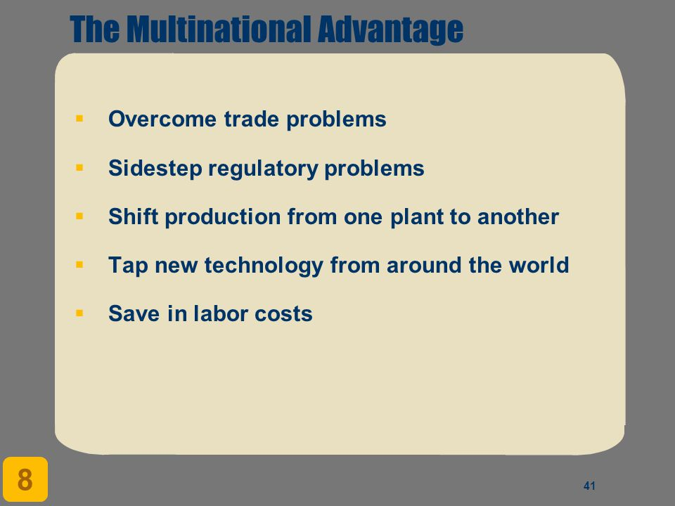 The Multinational Advantage