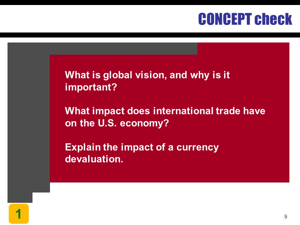 CONCEPT check 1 What is global vision, and why is it important