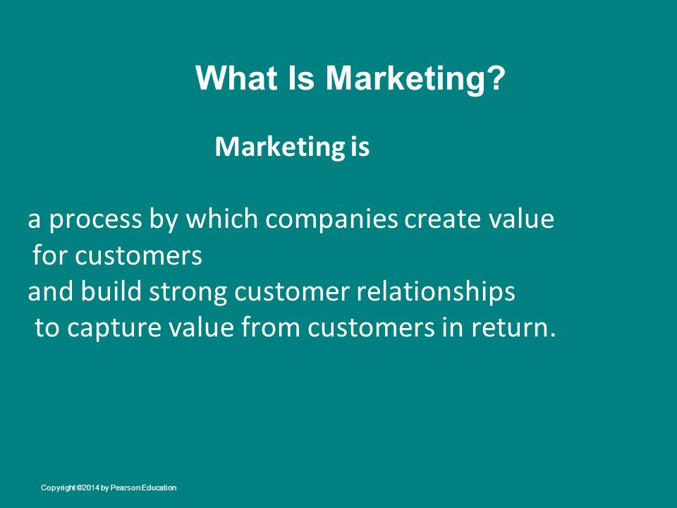 What Is Marketing Marketing is