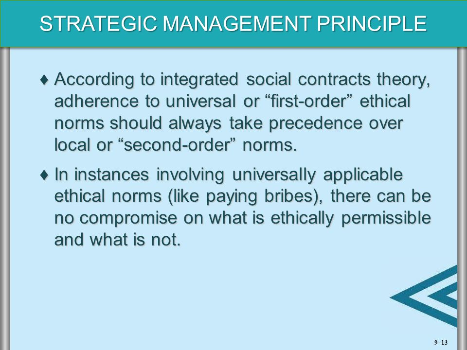 According to integrated social contracts theory, adherence to universal or first-order ethical norms should always take precedence over local or second-order norms.