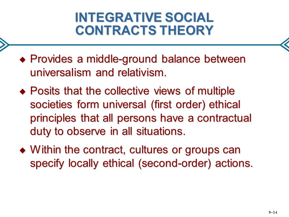 INTEGRATIVE SOCIAL CONTRACTS THEORY