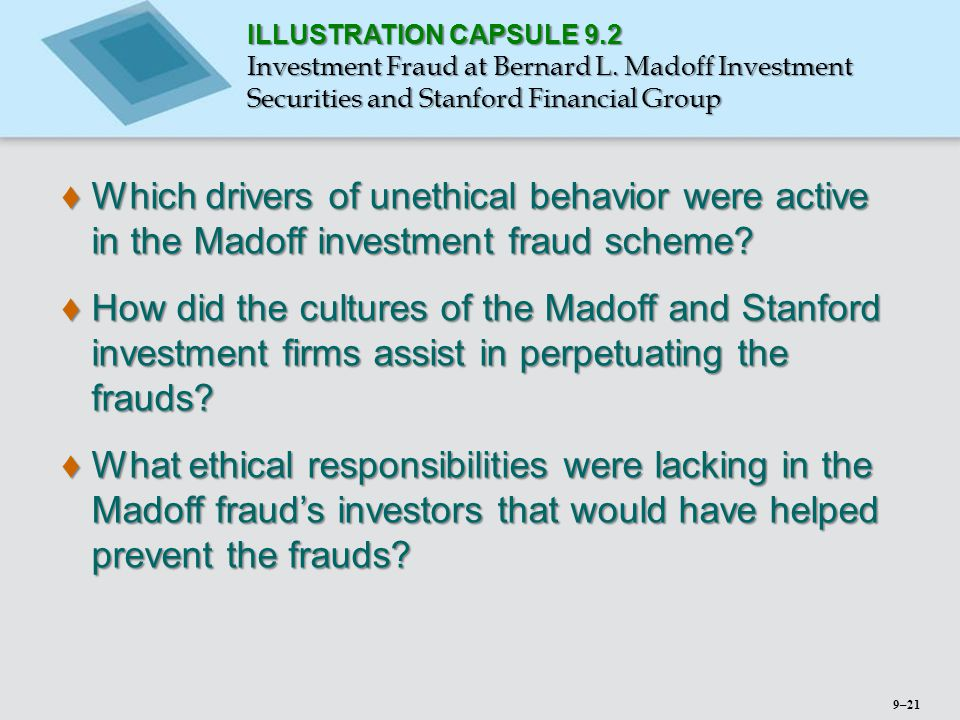 ILLUSTRATION CAPSULE 9. 2 Investment Fraud at Bernard L
